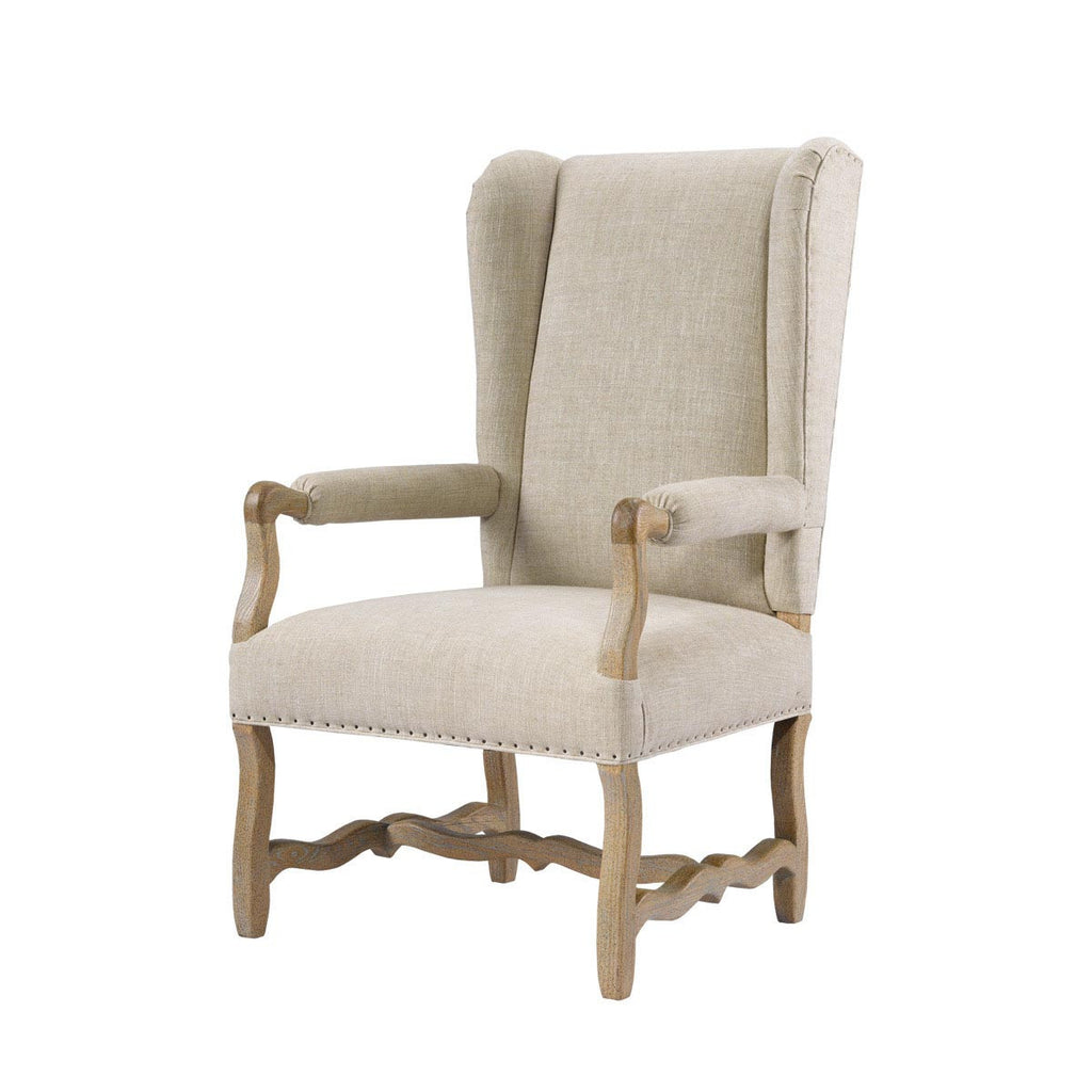 Curations Limited Belgium Wing Linen Arm Chair