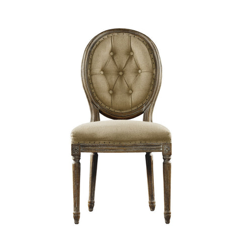 Curations Limited Vintage Louis Round Button Side Chair