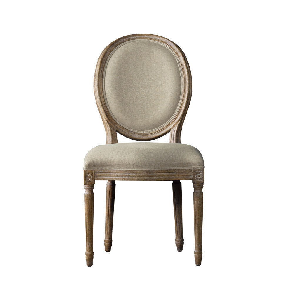 Curations Limited Vintage Louis Round Side Chair