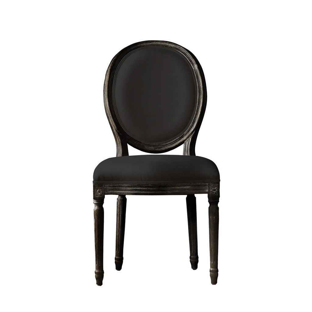 Curations Limited Vintage Louis  Antique Black Side Chair