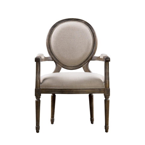 Curations Limited Vintage Louis Round Arm Chair