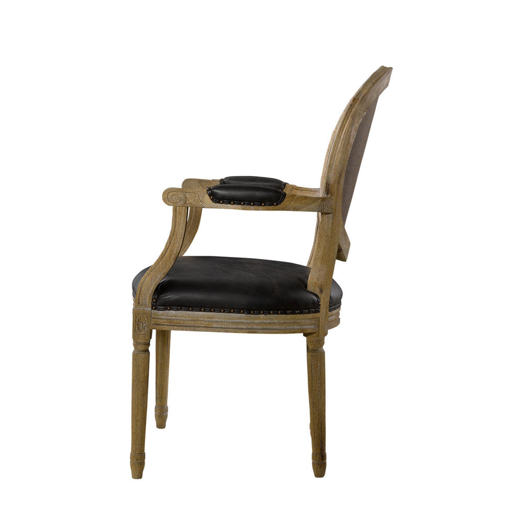 Curations Limited Vintage Louis Glove Round Arm Chair