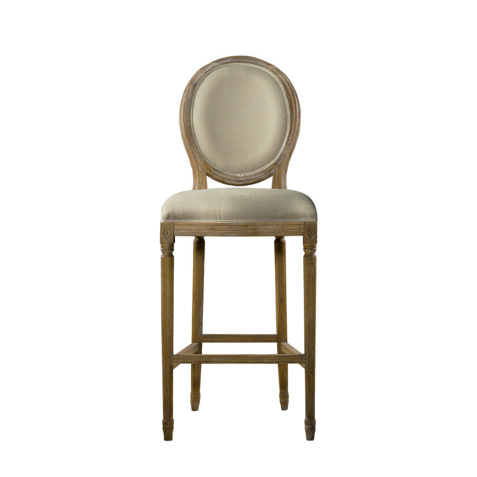 Curations Limited Vintage Louis Back High Bar Stool