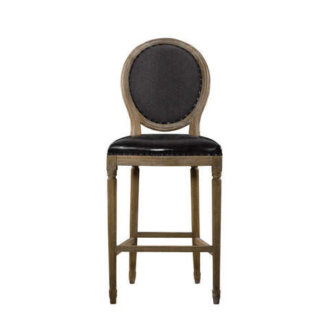 Curations Limited Vintage Louis Slate Back Counter Stool