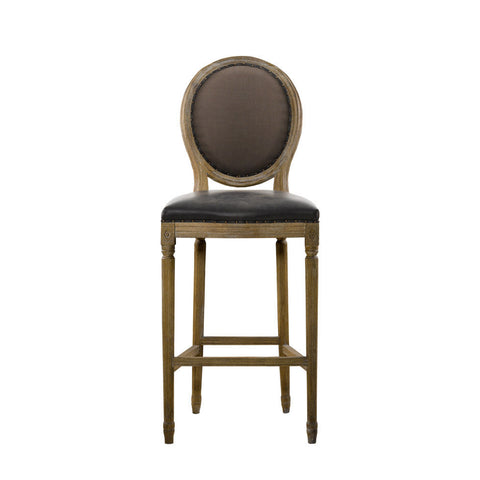 Curations Limited Vintage Louis Glove Back Counter Stool