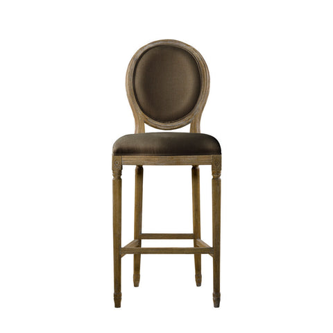 Curations Limited Vintage Louis Back Counter Stool