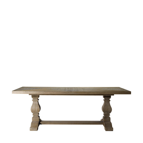 "Curations Limited 108"" New Trestle Table"