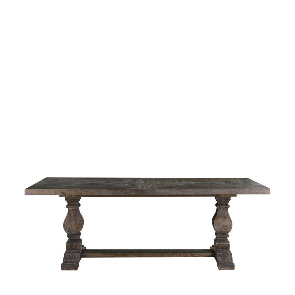 "Curations Limited 84"" New Trestle Table Grey"