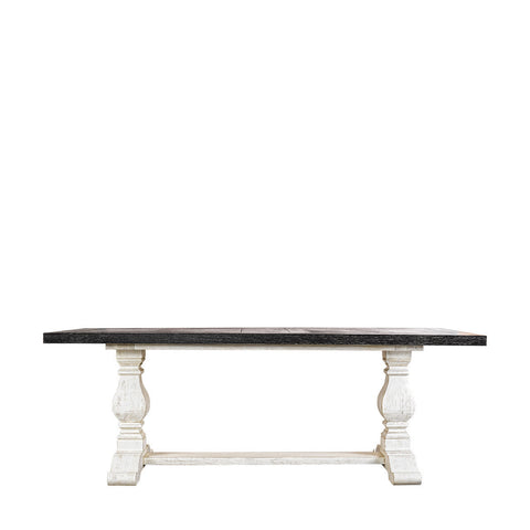 Curations Limited 84'' New Trestle Vintage Black & White  Table