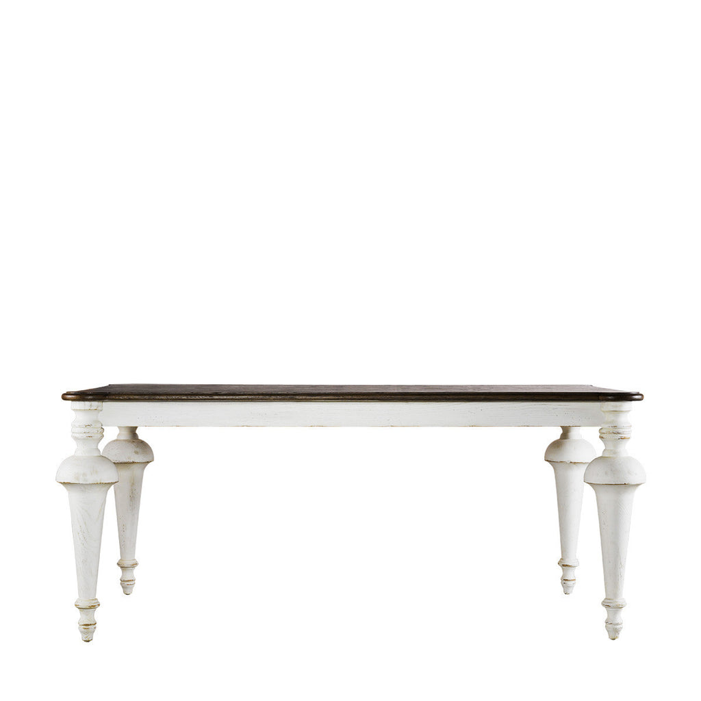Curations Limited Small Old Milton Vintage White Table
