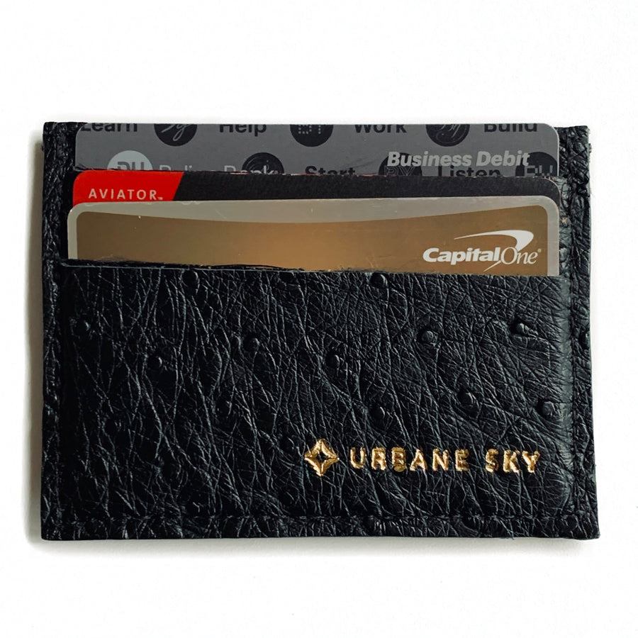 Credit Card Holders - Ostrich & Crocodile | leather credit card holders | multiple colors