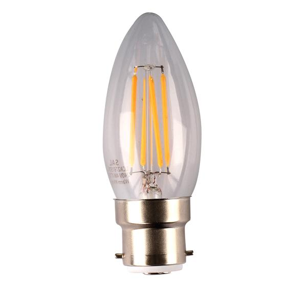 * LED Candle Filament Bulbs