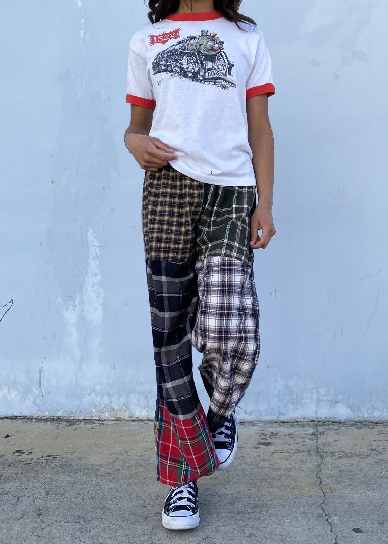 RCYCLD Flannel Pieced Pants