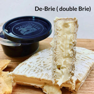 De-brie double brie, artisan cheese, artisan cheese board