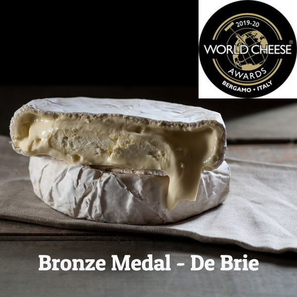 Artisan double brie, world cheese awards medal winner