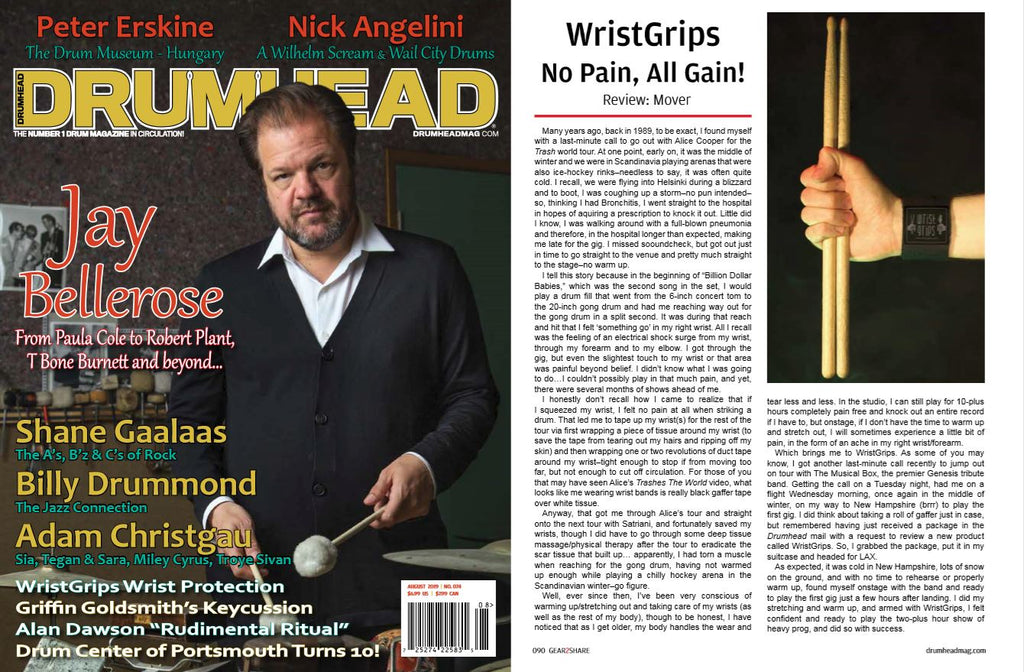 WristGrips feature in Drumhead magazine