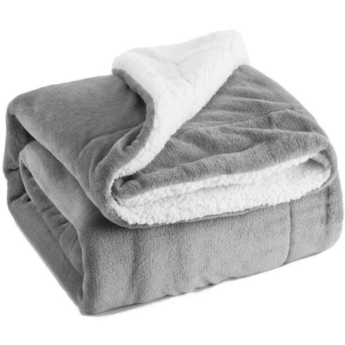Home Thicken Sherpa Warm Blanket Solid Air Sofa