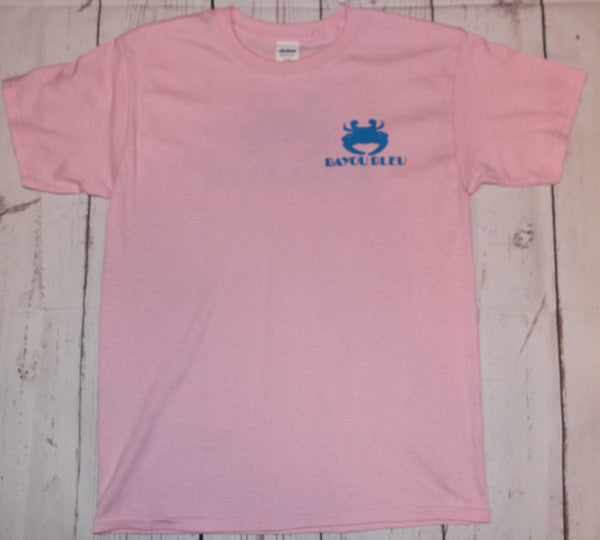Youth Pink Logo Short Sleeve T-Shirt