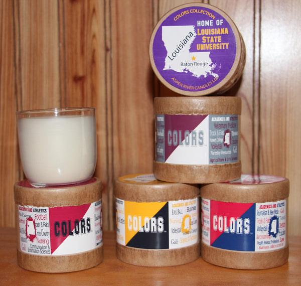 College Colors Candles