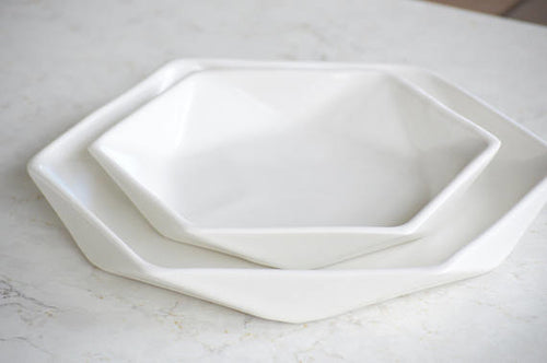 Hexagon Salad Plate
