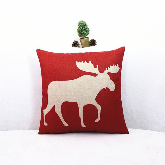 Vintage Christmas Pillow Case Cushion Cover