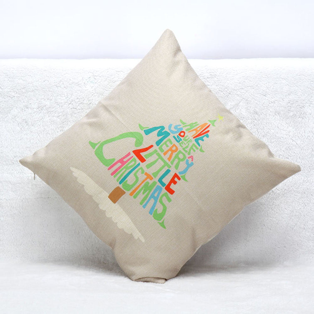 Christmas Letters Tree Pillow Case Cushion Cover