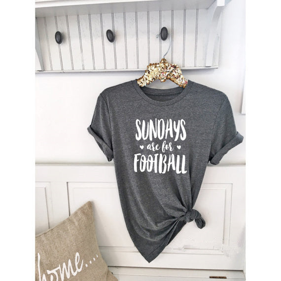 Sundays are for Football T-Shirt Boyfriend Stylish Tee