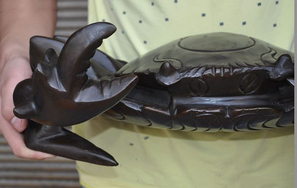 "17"" bronze Crab Art Statue"
