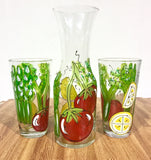 "Fruit ""Bloody Mary"" The Perfect Bloody Mary Hand Painted Glass"
