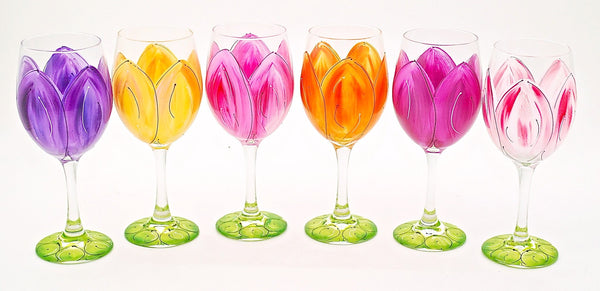 "BOSO 50%  Floral ""Tulip""  BUY A GLASS, SEND A GLASS - VIRTUAL HAPPY HOUR!"