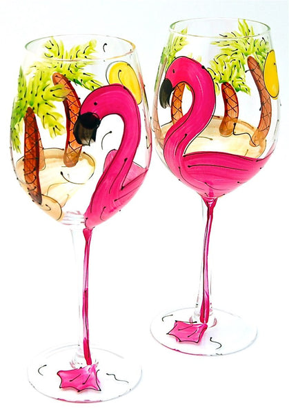 "BOSO 50% Beach Life ""Flamingo""  BUY A GLASS, SEND A GLASS - VIRTUAL HAPPY HOUR WITH FRIENDS & FAMILY"