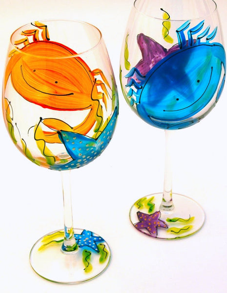 "BOSO 50% Beach Life ""Crab"" - Buy a Glass, Send a Glass - Virtual Happy Hour!"