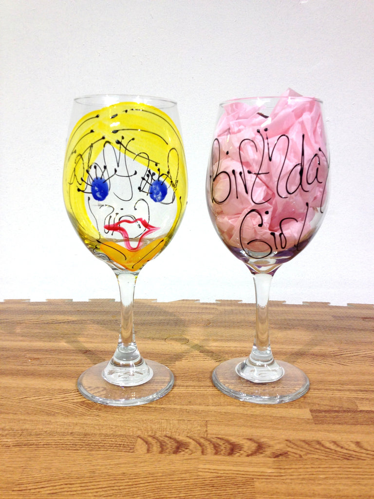 Birthday Girl Custom Glass