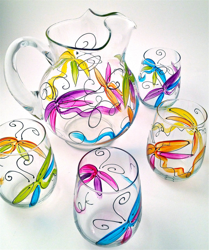 Dragonfly Drinking Glasses
