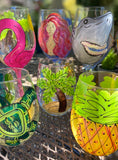 Wholesale Beach Pack 24 Hand Painted Glasses