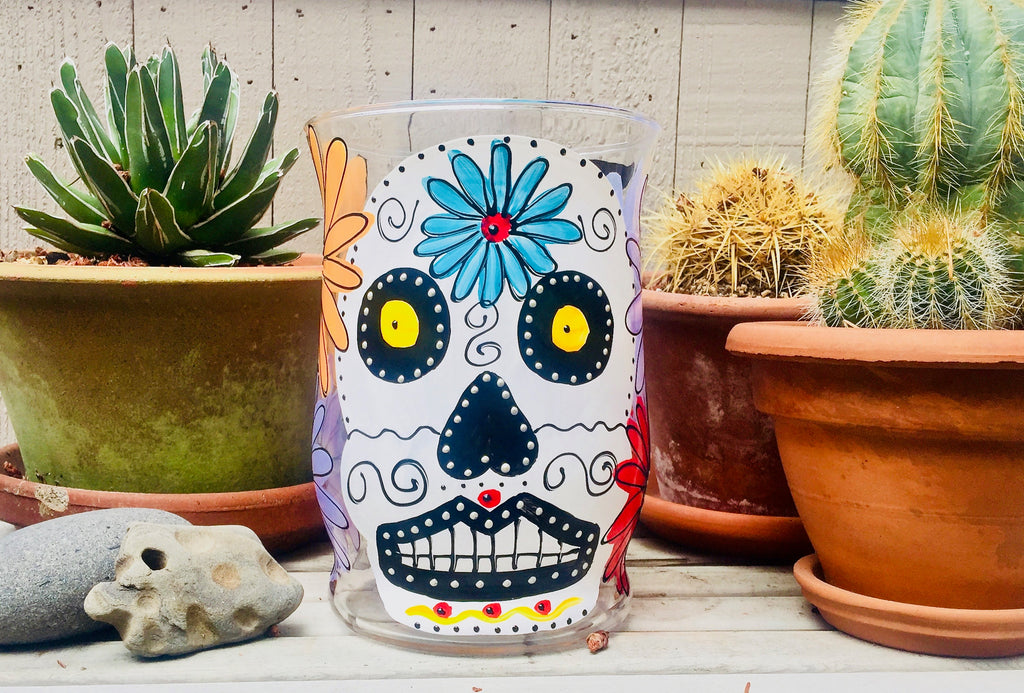 Sugar Skull - dia de los Muertos Hurricane Light - Brighten up your Harvest  Celebrations!