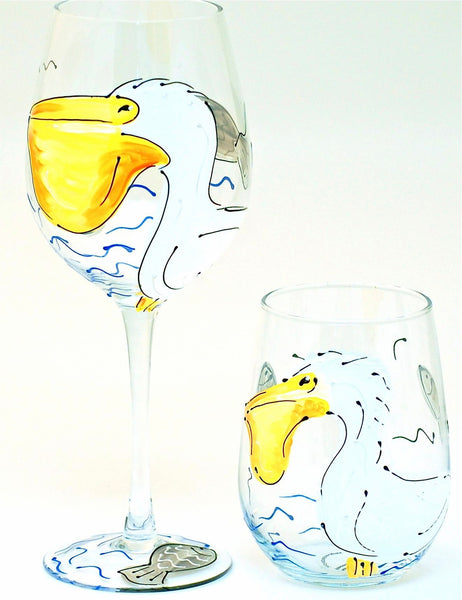 "BOSO 50% Beach Life ""Pelican""  BUY A GLASS, SEND A GLASS - VIRTUAL HAPPY HOUR WITH FRIENDS & FAMILY"