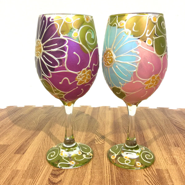 "BOSO 50%  Floral ""Tiffany""  BUY A GLASS, SEND A GLASS - VIRTUAL HAPPY HOUR!"