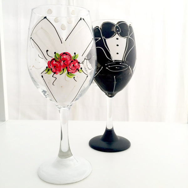 "BOSO 50%  ""Wedding Dress Modern""  BUY A GLASS, SEND A GLASS - VIRTUAL HAPPY HOUR!"
