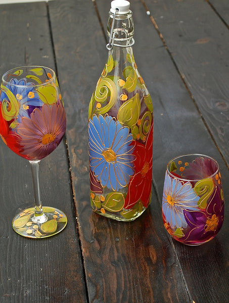 "BOSO 50%  Floral ""Julia""  BUY A GLASS, SEND A GLASS - VIRTUAL HAPPY HOUR!"