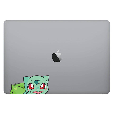 Vinyl Decal of Bulbasaur from Pokemon on Laptop