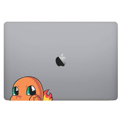 Vinyl Decal of Charmander from Pokemon on Laptop