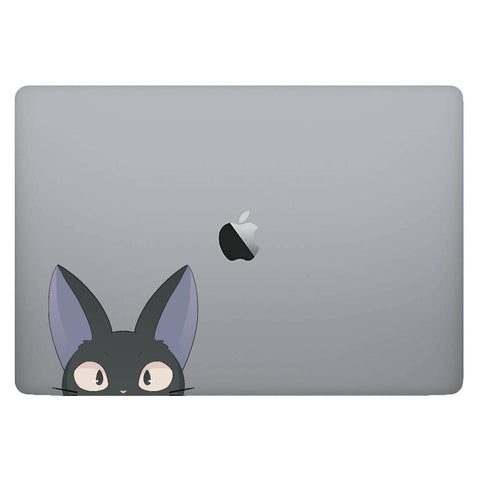 Vinyl Decal of Jiji from Kiki's Delivery Service on Laptop