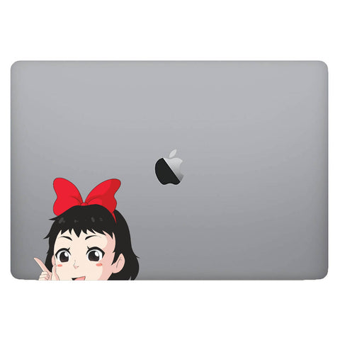 Vinyl Decal of Kiki from Kiki's Delivery Service on Laptop