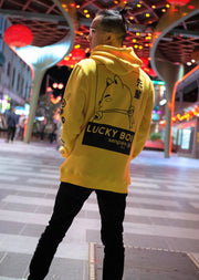 Senpais.jp Lucky Boi Hoodie Yellow - Back View
