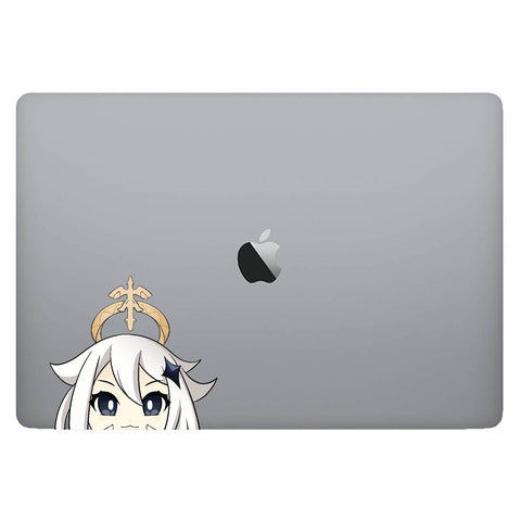 Vinyl Decal of Paimon from Genshin Impact on Laptop