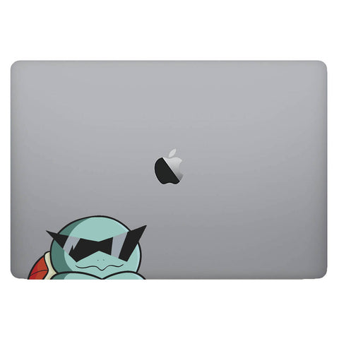 Vinyl Decal of Squirtle from Pokemon on Laptop