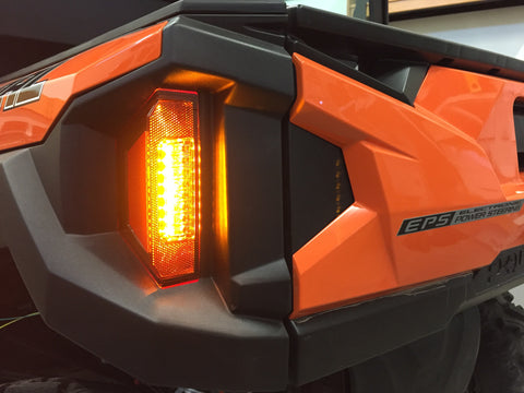 """EURO tail-light""  Plug and Play Turn Signal Kit for 2016 - 2020 Polaris General - Corbin Custom Works LLC"