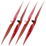 XOAR DJI Phantom 9450 Red Wood Self-Tightening Propellers (2 Pairs)