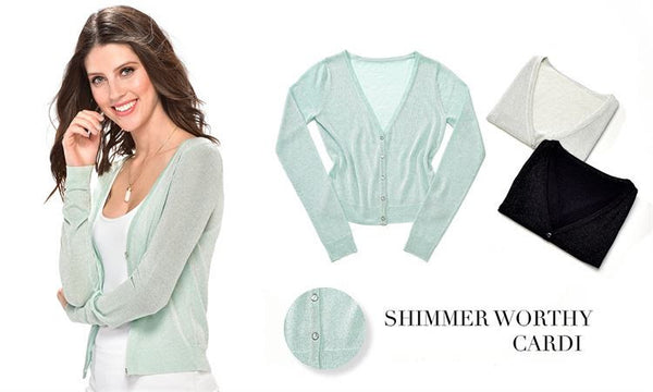 Shimmer Me Cardigan - Your Dream Boutique